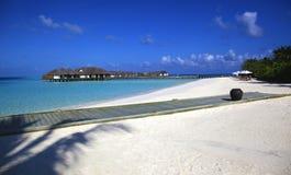 Playa ideal aislada tropical de lujo Foto de archivo