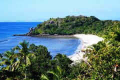 Playa ideal de las islas de Fiji Yasawa Imagenes de archivo