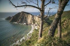 Playa imponente en Asturias, España Imagen de archivo
