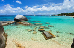 Playa imponente en el Caribe Imagen de archivo libre de regalías