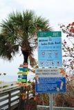 Playa india de las rocas en la Florida Imagen de archivo libre de regalías