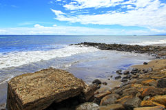 Playa Indonesia de Padang Foto de archivo