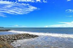 Playa Indonesia de Padang Imagen de archivo