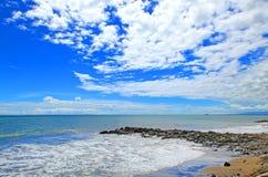 Playa Indonesia de Padang Imágenes de archivo libres de regalías
