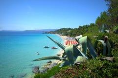 Playa jónica pintoresca Fotos de archivo
