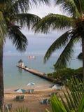 Playa jamaicana Imágenes de archivo libres de regalías
