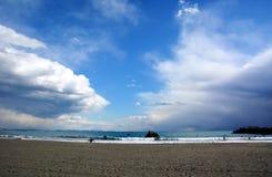 Playa japonesa del invierno Imágenes de archivo libres de regalías