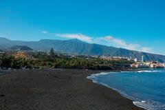 Playa Jardin, Puerto Cruz, Tenerife, Spain Stock Photography