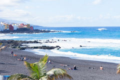 Playa Jardin, Puerto de la Cruz, Spain Stock Photography