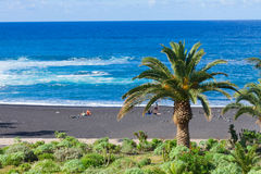 Playa Jardin, Puerto de la Cruz, Spain Stock Photos