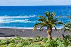 Playa Jardin, Puerto de la Cruz, Spanje stock foto's