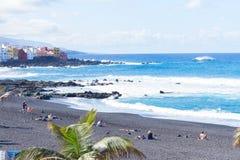Playa Jardin, Puerto de la Cruz, Spanje stock fotografie