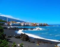 Playa Jardin, Puerto de la Cruz, Teneriffa, Spanien Lizenzfreie Stockbilder