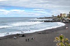 Playa jardin, Puerto Dela Cruz, Tenerife, Κανάρια νησιά, Ισπανία στοκ φωτογραφία