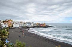 Playa jardin, Puerto Dela Cruz, Tenerife, Κανάρια νησιά, Ισπανία στοκ φωτογραφία με δικαίωμα ελεύθερης χρήσης