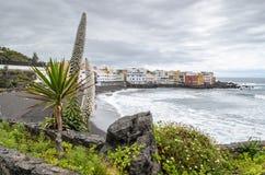 Playa jardin, Puerto Dela Cruz, Tenerife, Κανάρια νησιά, Ισπανία στοκ εικόνες