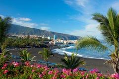Playa Jardin, Tenerife, Spagna fotografia stock libera da diritti