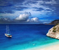 Playa Kaputas, Turquía Imágenes de archivo libres de regalías