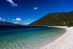 Playa Kefalonia de Antisamos Imagenes de archivo