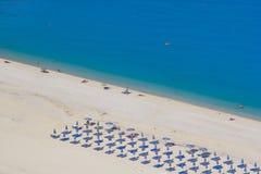 Playa Kefalonia de Myrtos Imagenes de archivo