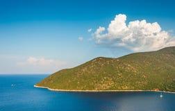 Playa Kefalonia Grecia de Antisamos Fotos de archivo libres de regalías