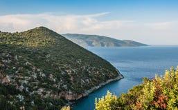 Playa Kefalonia Grecia de Antisamos Imagenes de archivo