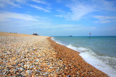 Playa Kent Reino Unido del trato Foto de archivo