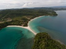 Playa Kudat de Kelambu imagen de archivo
