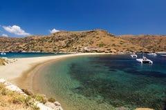 Playa Kythnos de Kolona Fotografía de archivo libre de regalías