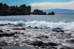 Playa la Arena black volcanic sand beach Royalty Free Stock Images