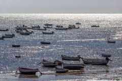 Playa-La Caleta oder La Caleta-Strand, Cadiz, Spanien lizenzfreies stockfoto
