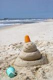 Playa la Florida de ciudad de Panamá del hombre de la arena Foto de archivo
