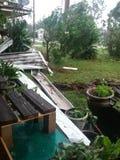 Playa la Florida Michael de ciudad de Panamá del daño del huracán fotografía de archivo libre de regalías
