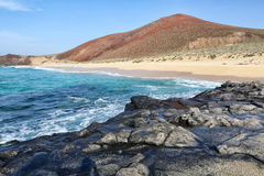 Playa lambra isla canarias. Spain Stock Images