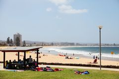 Playa larga del filón - Dee Why, Sydney Australia Imagen de archivo libre de regalías