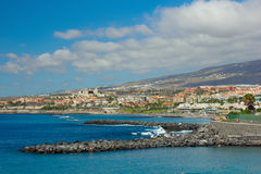 Playa Las美洲, Tenerife,西班牙 图库摄影