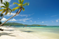 Playa Las Galeras. A tropical beach in the Dominican Republic Royalty Free Stock Image