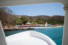Playa las Gatas from boat. Royalty Free Stock Photos