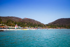 Playa las Gatas from boat. Stock Images