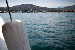 Playa las Gatas from boat. Stock Photos
