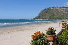 Playa Lazio Italia de Terracina Imagenes de archivo