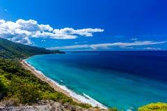 Playa Lefkada de Pefkoulia Foto de archivo