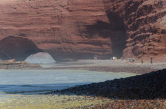 Playa Legzira en Marruecos foto de archivo libre de regalías