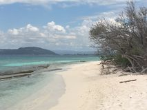 Playa lime cay Jamaica. Isle sun Jamaica Stock Image