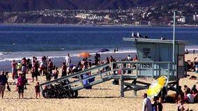 Playa Los Ángeles de Santa Monica almacen de video