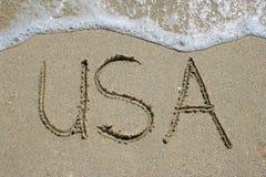 Playa los E.E.U.U. Foto de archivo libre de regalías
