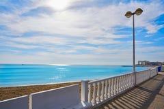 Playa los Locos wyrzucać na brzeg w Torrevieja w Hiszpania zdjęcie stock