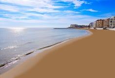 Playa los Locos wyrzucać na brzeg w Torrevieja w Hiszpania zdjęcia royalty free