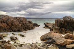 Playa mágica irlandesa Imagen de archivo libre de regalías