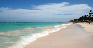Playa magnífica de Punta Cana Fotografía de archivo libre de regalías